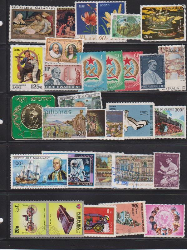 LOT OF DIFFERENT STAMPS OF THE WORLD USED (30) LOT#119