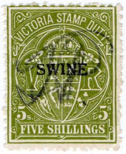 (I.B) Australia - Victoria Revenue : Swine Duty 5/-