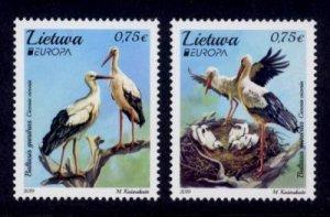 Lithuania Sc# 1147-8 MNH Europa 2019 / Birds
