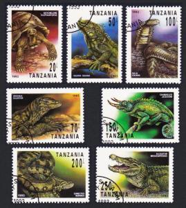Tanzania Reptiles 7v CTO SG#1528-1533 SC#1128-1134 MI#1503-1509