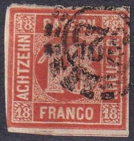 Bavaria #14 F-VF Used CV $140.00 (A18320)