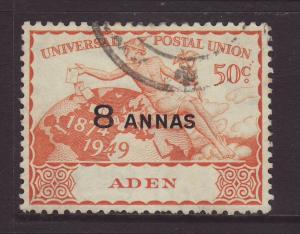 1949 Aden 8 Annas of 50c Fine Used