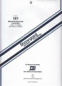 SHOWGARD BLACK MOUNTS 264/181 (5) RETAIL PRICE $18.50