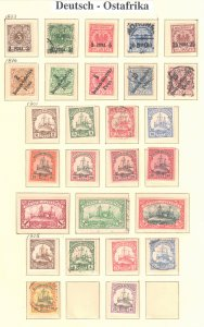Deutsch - Ostafrika  MINT and USED Collection