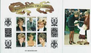 Lesotho 1998 Princess Diana - 6 Stamp Sheet + Stamp S/S 12E-015
