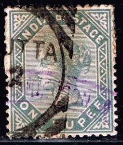 INDIA STAMP Queen Victoria  1 R USED STAMP