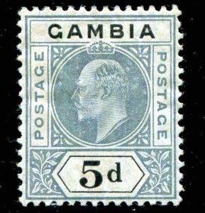 Gambia, Sc 50 5d  1904-1909  MH Partial Gum Disturbed