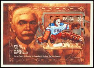 PALAU SHEET COUBERTIN CRAIG ICE HOCKEY WINTER OLYMPIC GAMES
