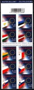 BELGIUM 2004 EUROPA: Adoption of 10 New EU Member Countries, Flags. BOOKLET Mint