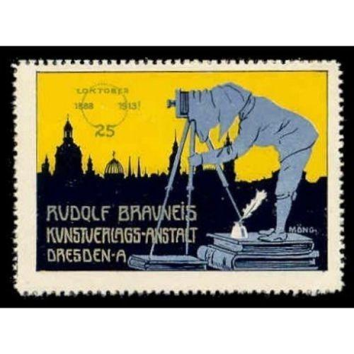Rudolf Brauneis Art Publisher Advertising Poster Stamp