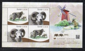 Aland Sc 362 2014 Year of the Ram stamp sheet mint NH