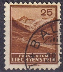 Liechtenstein  #121  F-VF Used   CV $65.00 (Z3165)