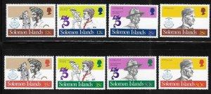 Solomon islands 1982 Scouting year Sc 481-488 MNH A1773