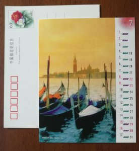 Thailand tour boat,CN 99 shanghai post world famous scenery with calendar PSC
