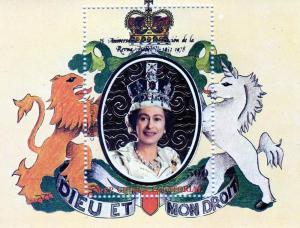 Equatorial Guinea 1978 Coronation 25th.Ann.SS Gold Mi.B.297