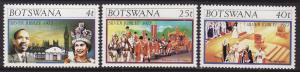 Botswana #179-81 F-VF Mint NH ** Silver Jubilee