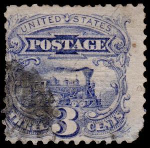 United States Scott 114 (1869) Used G-F, CV $16.00 D