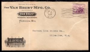 US Van Brunt Mfg Co,Horicon,WI 1934 Seeding Machines Cover