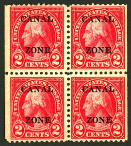 CANAL ZONE #101 MINT BLOKC OF 4 NG