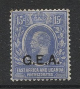 STAMP STATION PERTH Tanganyika #2 G.E.A Overprint MH Watermark 4 - 1921