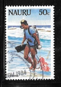 Nauru 294: 50c Sport Divers, used, VF