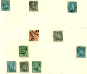BARBADOS COLLECTION - 1852-1939, Nice selection older mint & used on pages
