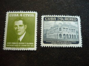 Stamps - Cuba - Scott#592,C179 - Mint Hinged Set of 2 Stamps