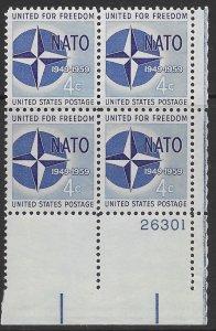 US #1127 PB.  NATO