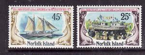 Norfolk Is.-Sc#192-3-Unused NH set-Ships-Schooner Resolution-1975-