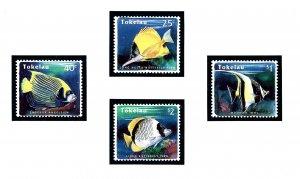 Tokelau Is 208-11 MNH 1995 Reef Fish     (KA)