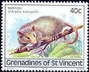 Possum, Manicou, St. Vincent Grenadines stamp SC#171 MNH