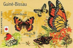 Guinea-Bissau - Butterflies Set of 2 Stamp S/S - GB1315