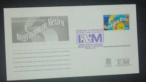 A) 1998, MEXICO, NATIONAL MIGRATION WEEK, FDC, CANCELLATION OF THE SECRETARY OF