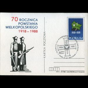 POLAND 1988 - Stamped card-Cap