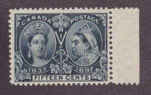 Canada Sc 58 MNH. 1897 15c QV Jubilee margin single VF