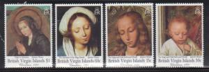 British Virgin Islands 731-4 Christmas Mint NH
