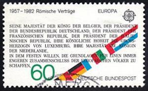Germany # 1373 used ~ 60pf Europa - Treaties of Rome
