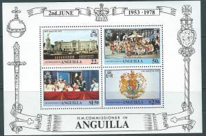 Anguilla #318a 25th Anniv. Souvenir Sheet of 4 (MNH) CV$2.00