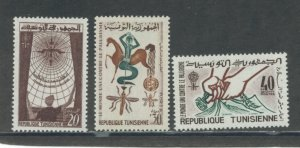 Tunisia 404-6  MNH cgs