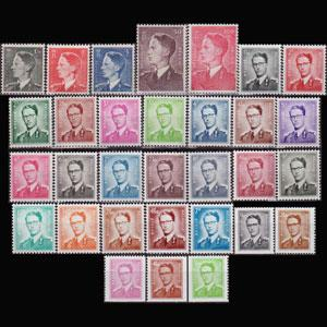 BELGIUM 1952 - Scott# 446-76 King Baudouin Set of 31 NH