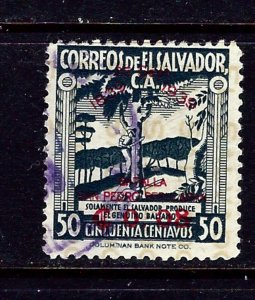 Salvador 566 Used 1939 overprint issue