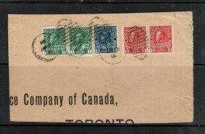 Canada #MR2b & #MR1 & #MR2 (x2) & #104 Used On Rare Cover Piece