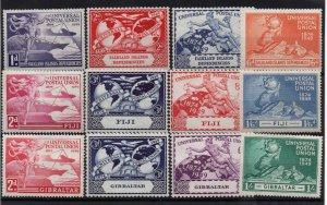 1949 UPU 3 x mint sets Falkland Dp, Fiji & Gibraltar WS22180