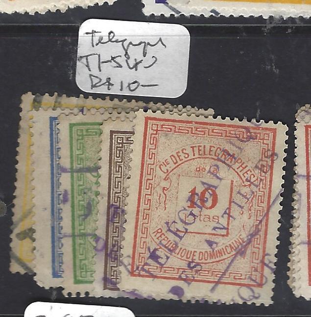 DOMINICAN REPUBLIC   (PP2512B)  TELEGRAPH STAMPS Y&T T1-5   VFU