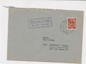 germany 1946 allied occupation stamps cover ref 18685