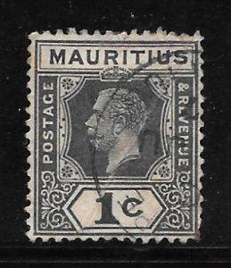 Mauritius 179: 1c George V, used, F-VF