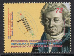 378 - NORTH MACEDONIA 2020 - Magnetic Field Theory by André-Marie Ampère MNH Set