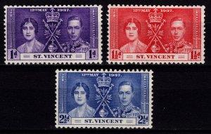 St Vincent 1937 George VI Coronation, Set [Unused]