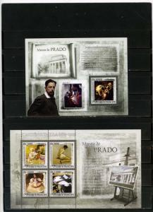 ST.THOMAS & PRINCE 2007 PAINTINGS BY J.SOROLLA SHEET OF 4 STAMPS & S/S MNH