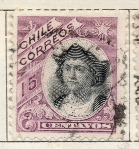 Chile 1905 Early Issue Fine Used 15c. NW-11426